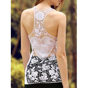 Sheer Lace Racerback Tank Top