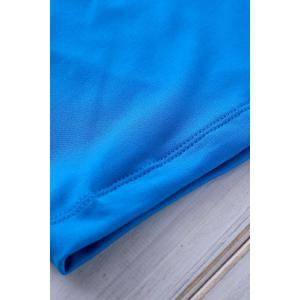 Elastic Solid Color Swimming Trunks For Men -