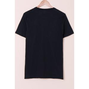 Special Fox Print Round Neck Short Sleeves 3D T-Shirt For Men -