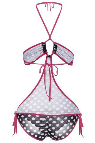 Women's Stylish Halter Polka Dot Hollow Out One Piece Swimwear от Rosegal.com INT