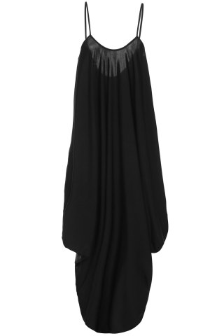 Sexy Strappy Black Loose-Fitting Jumpsuit For Women - BLACK S
