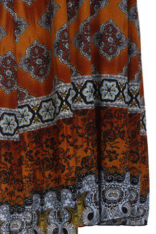 Fancy Bohemian Printed Strapless Dress For Women - ONE SIZE(FIT SIZE XS TO M) ORANGE Mobile