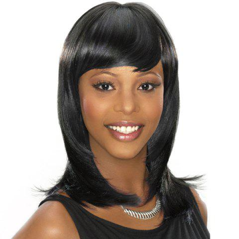 Full Bang Capless Straight Medium Synthetic Wig