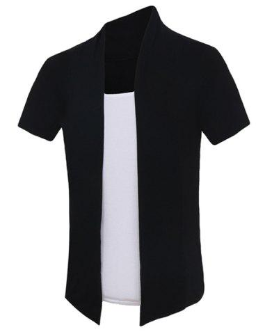Fashion Pullover Color Block Faux Twinset Short Sleeves T-Shirt For Men