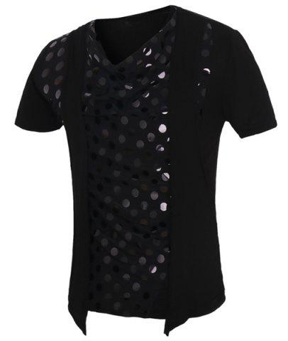 Outfit Circle Printed Faux Twinset Short Sleeves T-Shirt For Men