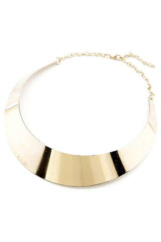 Outfits Chic Smooth Mirror Plane Chokers Necklace