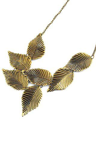 New Chic Leaf Shape Retro Style Necklace
