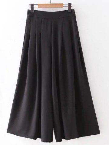 Trendy Stylish High Rise Wide Leg Pleated Pants For Women