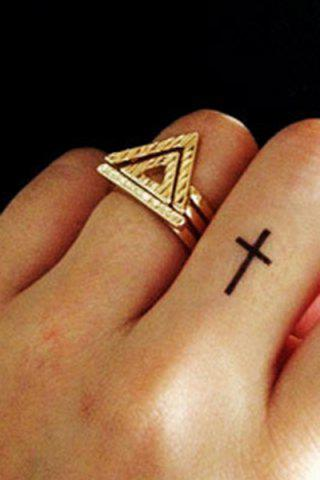 New Chic Double Hollow Triangle Rings
