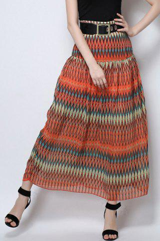 Affordable Long Printed Beach Skirt
