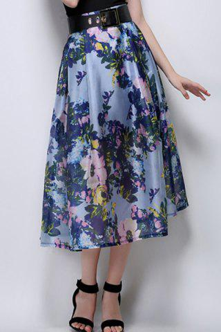 Best Midi Floral A Line Swing Skirt