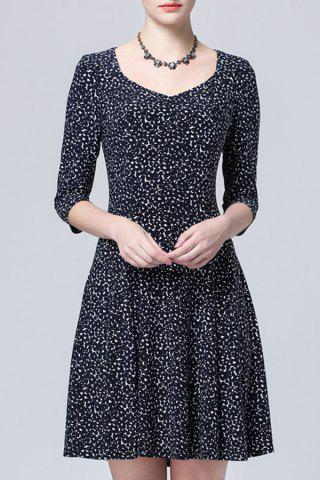 Sale Sweetheart Neck Printed Dress