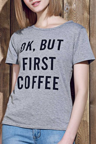 Sale Casual Round Collar Letter Print Short Sleeve T-Shirt For Women