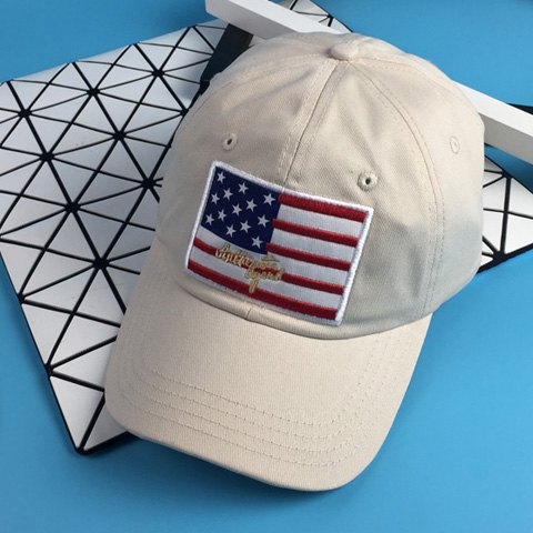 Sale Stylish American Flag and Letter Embroidery Baseball Cap For Men