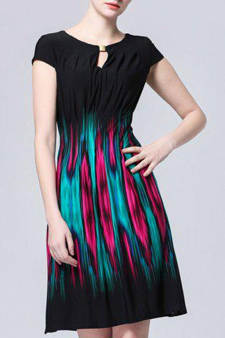 Outfit Breast Cut Out Pleated Dress