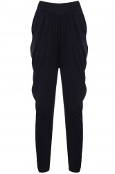 Elastic Waist Knickerbockers Sweat Pants -