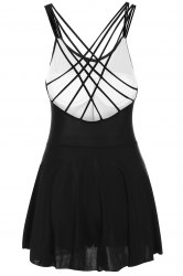 Strappy Criss-Cross Skirted Swimsuit