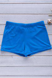 Elastic Solid Color Swimming Trunks For Men - BLUE