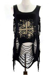 Fringed Ripped Tank Top -