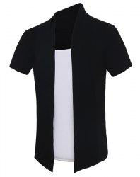 Pullover Color Block Faux Twinset Short Sleeves T-Shirt For Men -