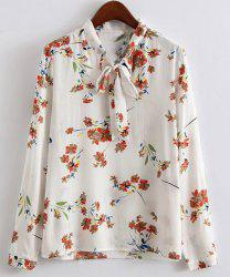 Stunning Stand Collar Long Sleeves Floral Print Shirt For Women -