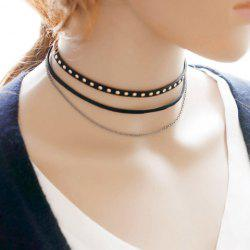 Punk Style Mulatilayered Rivet Choker Necklace For Women