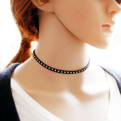 Punk Style Rivet Choker Necklace For Women
