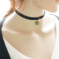 Vintage Crown Choker Necklace For Women - BLACK