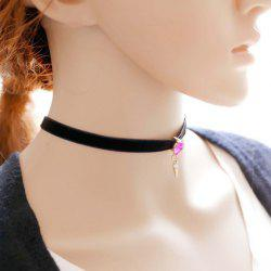 Geometric Alloy Rhinestone Choker Necklace