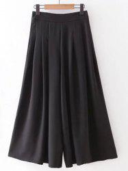 Stylish High Rise Wide Leg Pleated Pants For Women -