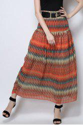 Long Printed Beach Skirt -