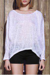 Dolman Sleeve Asymmetrical Sweater