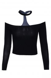 Fashionable Off The Shoulder Long Sleeve Crop Top For Women -