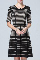 High Waist Striped Dress -