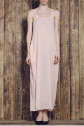 Stylish Cami Solid Color Women's Maxi Dress