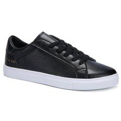 Simple Lace-Up and Figure Print Design Casual Shoes For Men -