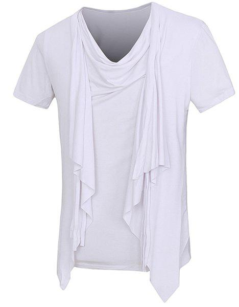 Affordable Solid Color Faux Twinset Short Sleeves T-Shirt For Men