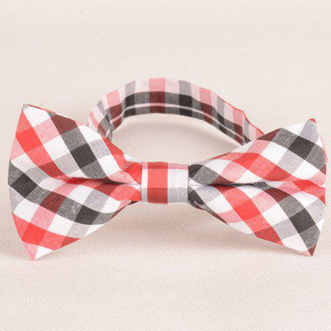 Stylish Tartan Pattern Red Black White Three Color Match Bow Tie For MenACCESSORIES<br><br>Color: RED; Type: Bow Tie; Group: Adult; Style: Fashion; Pattern Type: Plaid; Material: Polyester; Weight: 0.028kg; Package Contents: 1 x Bow Tie;