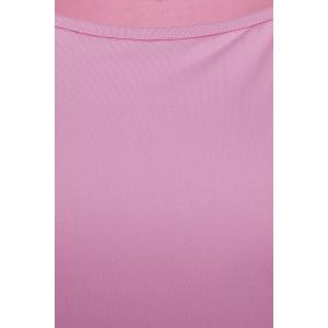 Stylish Skew Neck Long Batwing Sleeve Solid Color Women's T-Shirt -