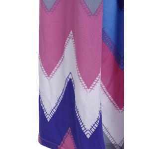 Maxi Strapless Colorful Zigzag Dress - ROSE M
