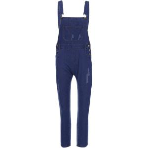 Casual Style Solid Color Straight Leg Women's Denim Overalls
