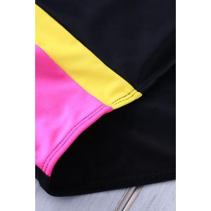 Trendy Color Block Underwire One Piece Swimsuit For Women -