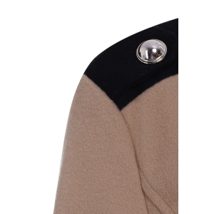 Chic Turn-Down Collar Long Sleeve Double-Breasted Woolen Coat For Women - CAMEL M