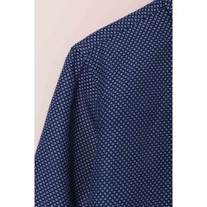 Long Sleeves Checked Single Breasted Shirt For Men - DEEP BLUE XS