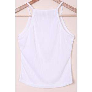 Simple Spaghetti Strap Solid Color Knitted Women's Tank Top -