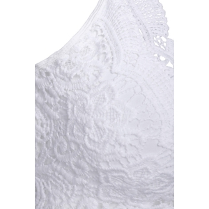 Sexy V-Neck Sleeveless Criss-Cross Lace Women's Tank Top -
