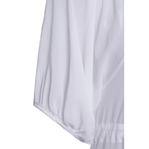 Lace Up Chiffon Long Cover-Up Kimono Dress - WHITE ONE SIZE