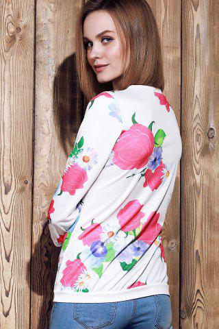 Shops Sweet Various Colorful Floral Printed 3/4 Sleeve Sweatshirt For Women - XL ROSE Mobile