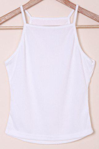 New Simple Spaghetti Strap Solid Color Knitted Women's Tank Top