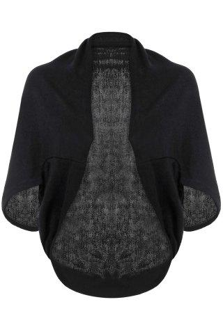Sale Batwing Sleeves Solid Color Short Cardigan